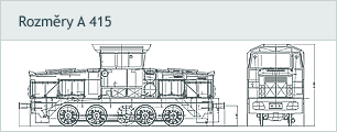 Dimensions locomotive A 415